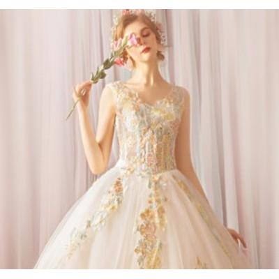 ウェディングドレス 結婚式ワンピース ブライズメイド きれいめ お呼ばれ 同窓会 謝恩会 結婚式 パーティードレス ホワイト色