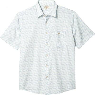 ファレティ Faherty メンズ 半袖シャツ トップス Short Sleeve Playa Shirt Ivory Endless Peaks
