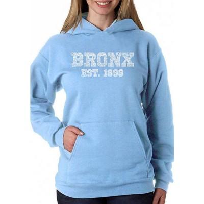 エルエーポップアート レディース ニット・セーター アウター Word Art Hooded Sweatshirt - Popular Neighborhoods In Bronx, NY