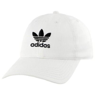 アディダス メンズ 帽子 アクセサリー adidas Originals Washed Relaxed Strapback White/Black