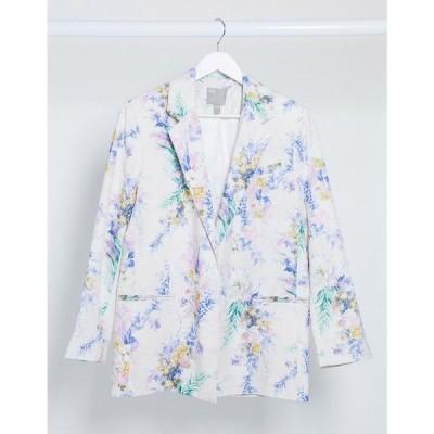 エイソス ASOS DESIGN レディース スーツ・ジャケット アウター dad suit blazer in floral print フローラル