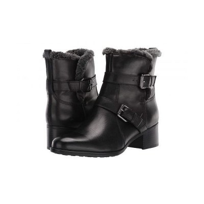 Naturalizer ナチュラライザー レディース 女性用 シューズ 靴 ブーツ アンクル ショートブーツ Deanne Waterproof - Black Leather