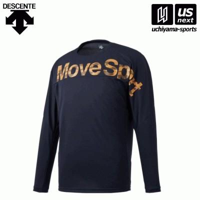 デサント DMMQJB50 メンズ 長袖Tシャツ ネイビー 2020〜21年秋冬モデル [取り寄せ][自社](メール便不可)