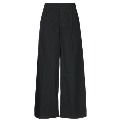 EUROPEAN CULTURE パンツ ブラック XS コットン 99% / ポリウレタン® 1% パンツ