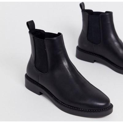 エイソス ASOS DESIGN レディース ブーツ チェルシーブーツ シューズ・靴 Auto chunky chelsea boots in black ブラック