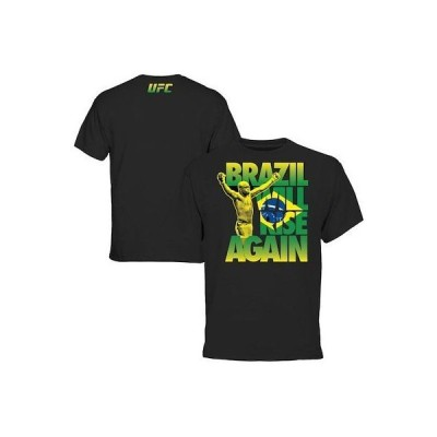 総合格闘技(MMA) 海外セレクション Anderson Silva UFC Black Brazil Will Rise T-Shirt