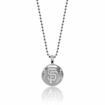 Alex Woo アレックス ウー アクセサリー ジュエリー Alex Woo San Francisco Giants Womens Sterling Silver Disc Nec