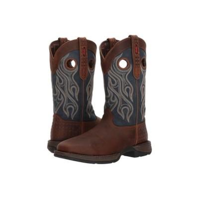 デュランゴ Durango メンズ ブーツ シューズ・靴 Rebel 12' Western WP Square Steel Toe Dark Brown/Blue