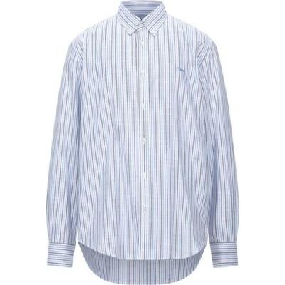 ハーモント アンド ブレイン HARMONT&BLAINE メンズ シャツ トップス Striped Shirt Sky blue