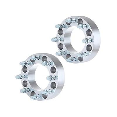 ECCPP 2インチ 2X 8x6.5 ホイールスペーサー 8x6.5 - 8x6.5 117mm ホイールスペーサー 8ラグ GMC サバナ/シエラ