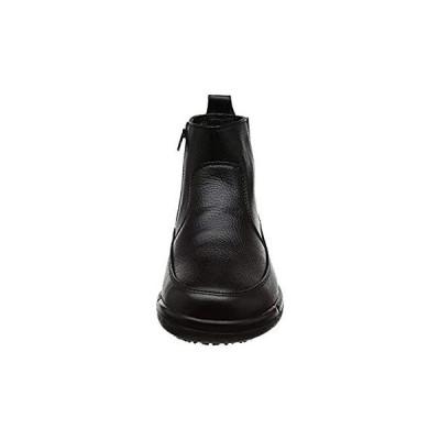 スポルス オム 透湿防水 防滑ソール スペラン ファスナー ブーツ 本革 3E SPH8990WSR メンズ ブラック 26 cm