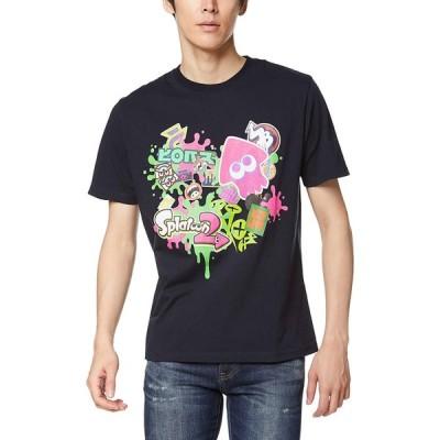 [スプラトゥーン] Tシャツ Splatoon2 スプラトゥーン2 半袖 ハイカラストリート 22823702 ネイビー 日本 S (日本サイズS相当