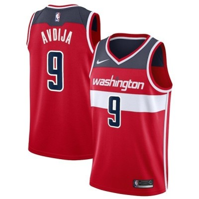 ナイキ メンズ Tシャツ トップス Deni Avdija Washington Wizards Nike 2020/21 Swingman Jersey Red Icon Edition