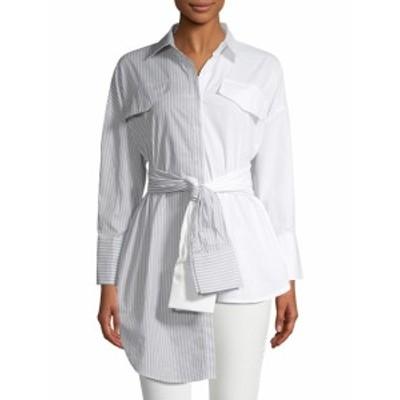 オートルージュ レディース トップス シャツ Two-Tone Asymmetric Collared Shirt