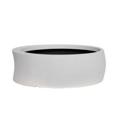 大和プラスチック ファイバーグラスシリーズ カーブ 100型 ホワイト