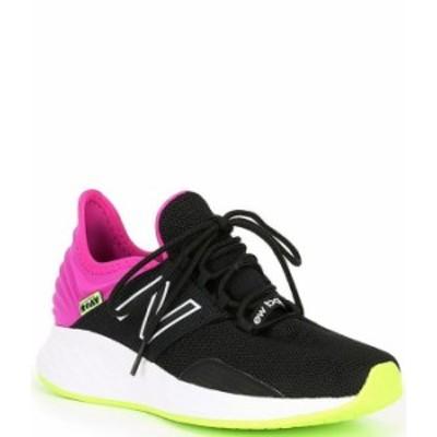 ニューバランス レディース スニーカー シューズ Women's Fresh Foam Roav Running Shoes Black/Poisonberry/Lime Glo
