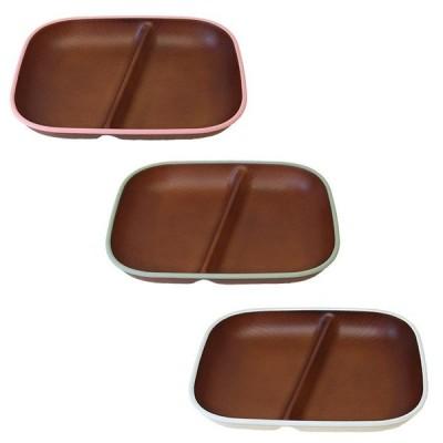 木目スクエアワンプレート トリム 日本製 人気 北欧風 プラスチック 食器 取り皿 テーブルウェア