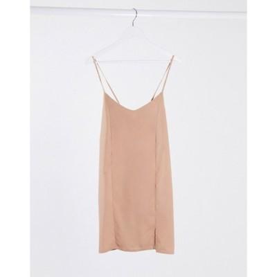 ミスガイデッド レディース ワンピース トップス Missguided tie back cami dress in blush