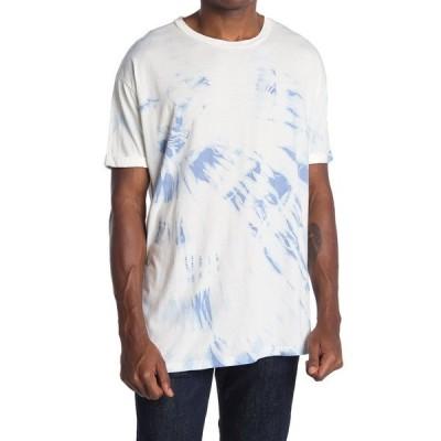 ランドリールーム レディース Tシャツ トップス Premium Oversized Tie Dye Print Sleep T-Shirt AQUAMARINE