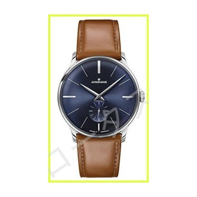 Junghans Meister Sunray Blue Dial Hand Wound Brown Leather Strap 027/3504 並行輸入品