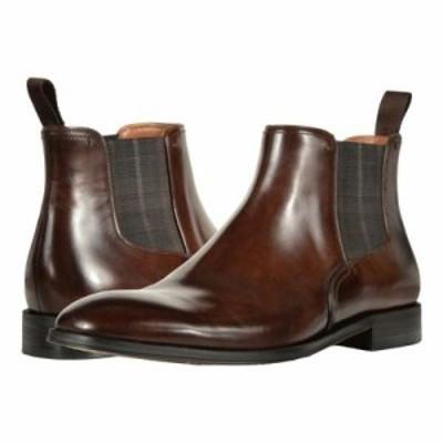 フローシャイム ブーツ Belfast Plain Toe Gore Boot Brown Smooth