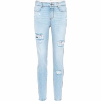 ステラ マッカートニー Stella McCartney レディース ジーンズ・デニム ボトムス・パンツ Distressed skinny jeans Pale Blue