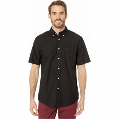 トミー ヒルフィガー Tommy Hilfiger メンズ 半袖シャツ トップス Maxwell Short Sleeve Button Down Shirt Deep Knit Black