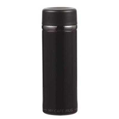 マグ 300ml マイカフェ コンパクト パール金属 マグボトル 水筒 ブラック HB-4861 (HB-4861)
