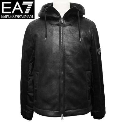 エンポリオ アルマーニ EA7 パーカージャケット メンズ エコレザー ブルゾン Lサイズ ARMANI 6HPBA5 PN54Z 1200  新品