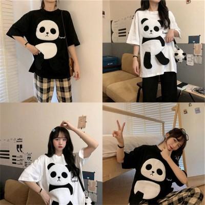 Tシャツ レディース 半袖 Tシャツ トップス 韓国ファッション ゆったり カットソー 大きいサイズ 涼しい カジュアル 上品 春夏