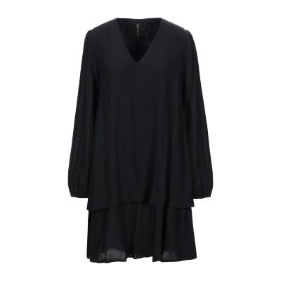 マニラ グレース MANILA GRACE ミニワンピース&ドレス ブラック 38 レーヨン 100% ミニワンピース&ドレス