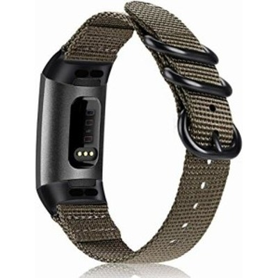 Fintie for Fitbit Charge 4 / Charge 3 / Charge 3 SE 用 バンド ベルト スポーツバンド 交換用ストラップ ソフト 編みナイロン 通気 調