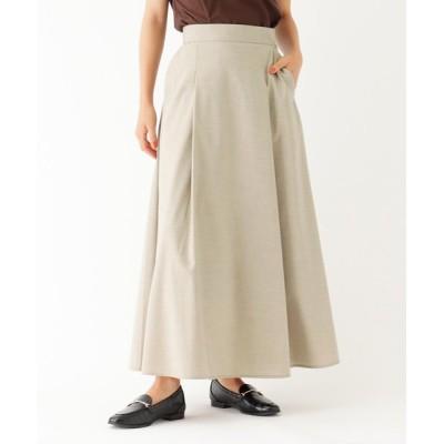 OPAQUE.CLIP / 【洗える】【イージーケア】STANDARD キバンチ T/Wツイル ロングフレアスカート WOMEN スカート > スカート