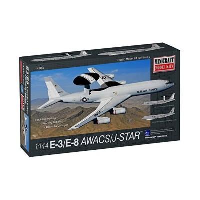プラッツ 1/144 アメリカ空軍 E-3 / E-8 AWACS / ジョイントスターズ プラモデル MC14703