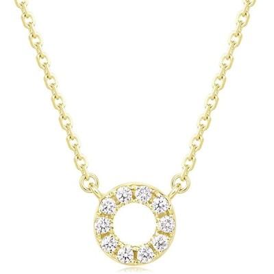 FANCIME 0.1ct天然ダイヤモンド K18ゴールド 18金 ネックレス レディース ギフトラッピング済 誕生日 プレゼント
