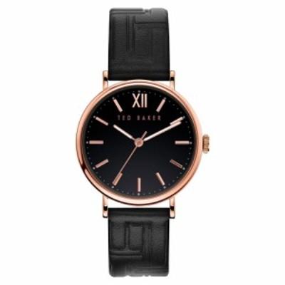 テッドベーカー TED BAKER LONDON レディース 腕時計 Phylipa Leather Strap Watch. 37mm Black/Rose Gold