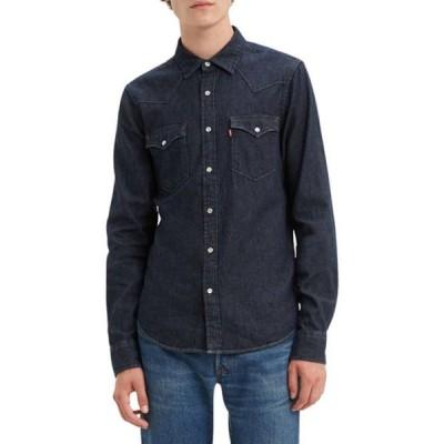 リーバイス メンズ シャツ トップス Standard Red Cast Rinse Classic Western Shirt