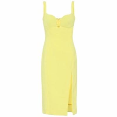 ミュグレー Mugler レディース パーティードレス ワンピース・ドレス Stretch-crepe minidress Yellow