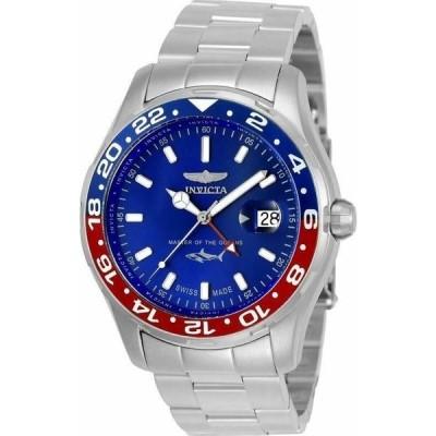 腕時計 インヴィクタ メンズ  Invicta Pro Diver SWISS MADE 25820 Men's GMT Quartz Stainless Watch 44mm