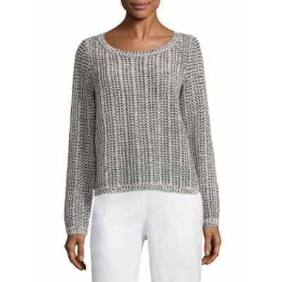 アイリーンフィッシャー レディース トップス シャツ Cotton & Linen Blend Knit Top