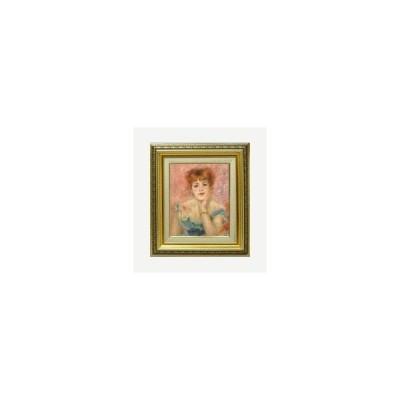 ルノワール ジャンヌ・サマリーの肖像 F3 【油絵 直筆 複製画】【ガラス板額縁付】 絵画 販売 油彩 人物画 418×366mm 送料無料 (ルノアール)