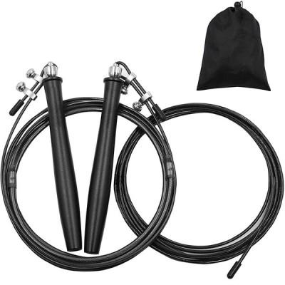 なわとび 大人 トレーニング用 縄跳び スピードロープ 高速回転 もつれ防止 特別なダブルボールベアリング 競技用 練習用 収納袋付 長さ調整可能