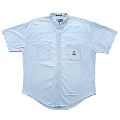 古着 CHAPS チャップス デニム ボタンダウンシャツ 半袖 サイズ表記:XL