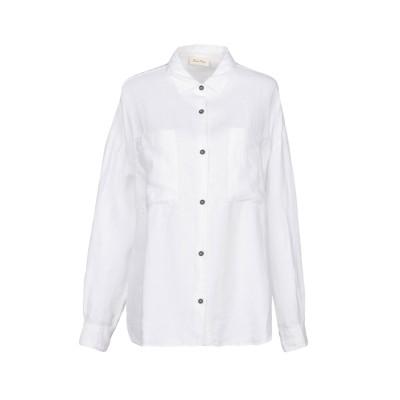 アメリカン ヴィンテージ AMERICAN VINTAGE シャツ ホワイト XS/S 麻 100% シャツ