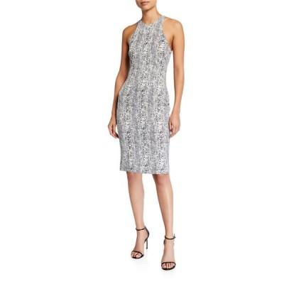 ライクリー レディース ワンピース トップス Simons Python-Print Bodycon Cocktail Dress