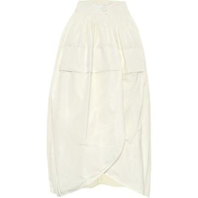ジル サンダー Jil Sander レディース ひざ丈スカート スカート Taffeta Midi Skirt Antique White