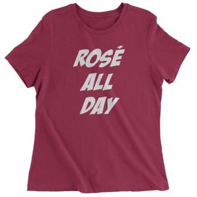 レディース 衣類 トップス Rose' All Day Wine Tasting Womens T-shirt Tシャツ
