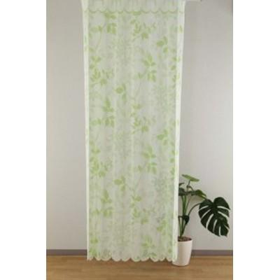 間仕切りカーテン:幅105cmx長さ180cm:アコーディオン式カチオンリーフGR || ファブリック 敷物 のれん