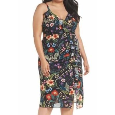 ファッション ドレス Copper St NEW Black Floral Printed Women Size 14 Chiffon A-Line Dress