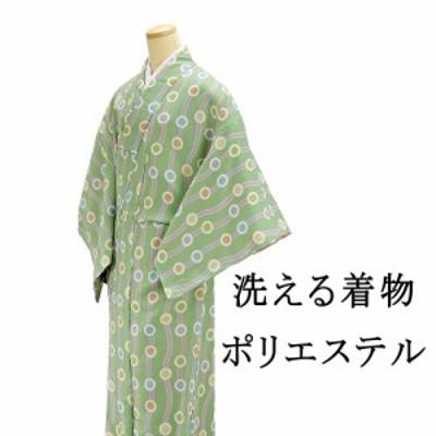 (洗える着物) 新品 洗える着物 ポリエステル小紋 L寸(新品)(着物)